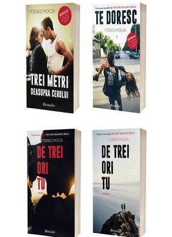 """Seria de 4 cărți """"Trei metri deasupra cerului""""-Federico Moccia"""